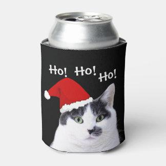 Cat in Santa Hat Can Cooler