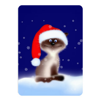 Cat in Santa Hat Card