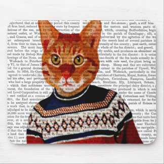 Cat in Ski Sweater 2 Mouse Pad