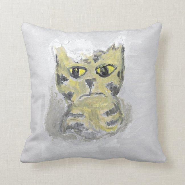 Cat in Snow Folk Art