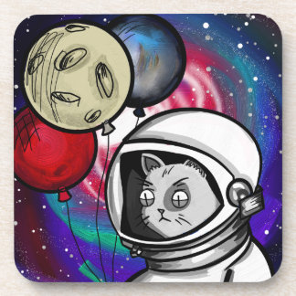 Cat in Space Drink Coaster
