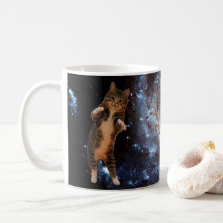 Cat in space - mug