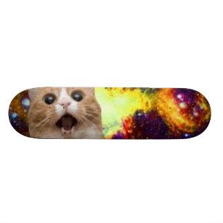 cat in space skateboard