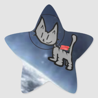 Cat In Space Stickers