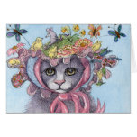 Cat in Spring Bonnet Card
