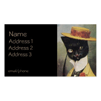 Cat in Straw Hat Double-Sided Standard Business Cards (Pack Of 100)