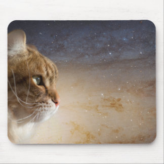 Cat in the Andromeda galaxy Mouse Pad