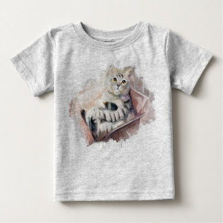 Cat in the box. baby T-Shirt