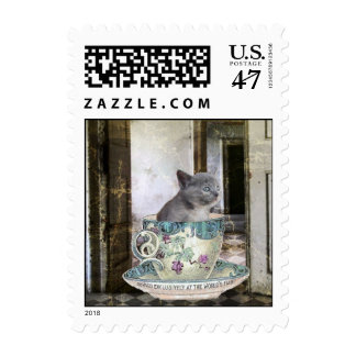 Cat in the Cup Postage