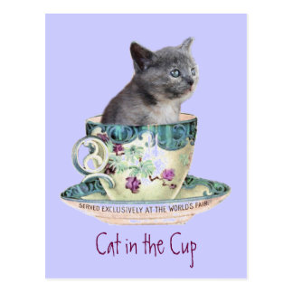 Cat in the Cup postcard