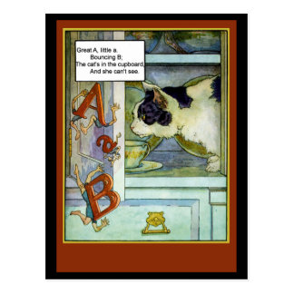 Cat in the Cupboard with ABC's Postcard