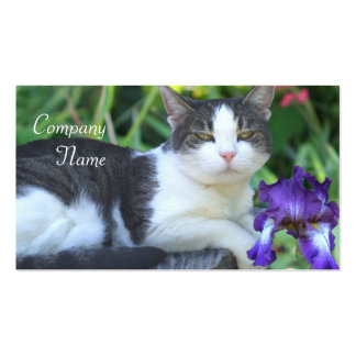Cat in the garden business card