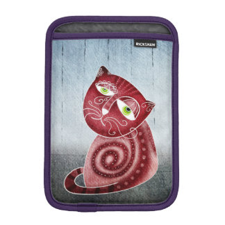 Cat in the garden iPad mini sleeve