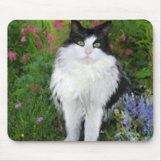 Cat in the Garden Mouse Pad