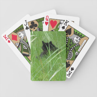 CAT IN THE GRASS BICYCLE PLAYING CARDS