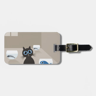 Cat in the house bag tag