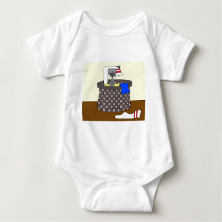Cat in the Laundry (Meet the Mews) Baby Bodysuit