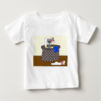 Cat in the Laundry (Meet the Mews) Baby T-Shirt