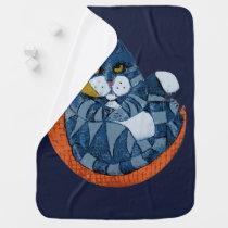 Cat in the Moon Baby Blanket