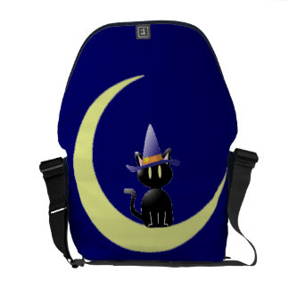 Cat in the Moon Courier Bag