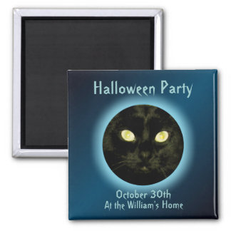 Cat in the Moon Halloween Party Magnets