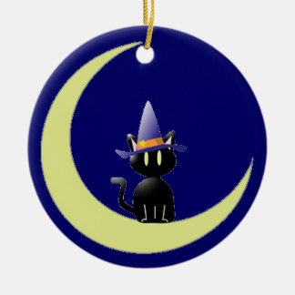 Cat in the Moon Christmas Ornaments