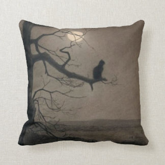 Cat in the Moonlight, , Alexandre Steinlen Throw Pillow