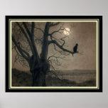 """Cat in the Moonlight"" Art Nouveau Print"