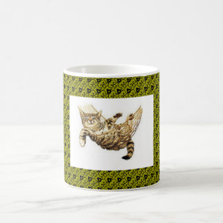 CAT IN THE NET, COFFEE MUG