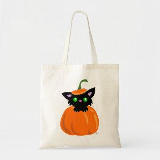 Cat in the Pumpkin Tote Bag