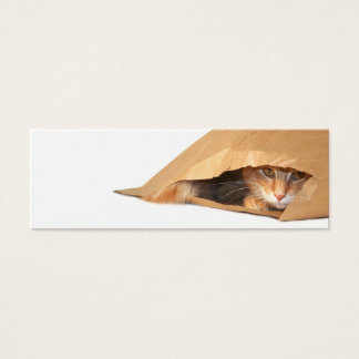 Cat in the sack bookmark mini business card