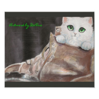 cat in the shoe poster