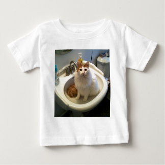 Cat in the Sink Baby T-Shirt
