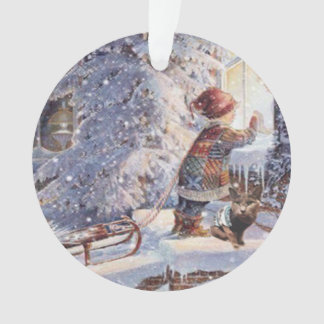 Cat In The Snow Christmas Ornament