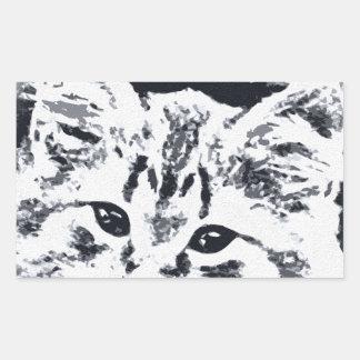 Cat in the Straw Hat Rectangular Sticker