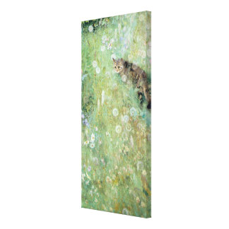 Cat in the Summer Meadow, Bruno Liljefors Canvas Print