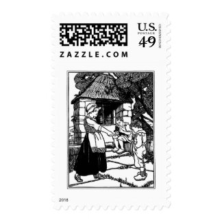 Cat in the Well Nursery Rhyme Postage Stamps