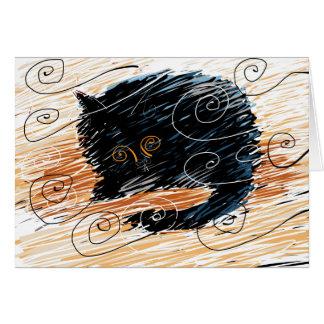 Cat in the wind card