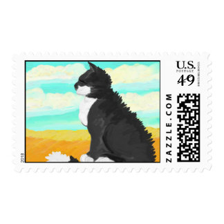 Cat in the Wind Postage Stamps