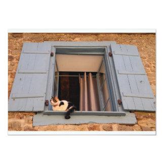 Cat in the window card