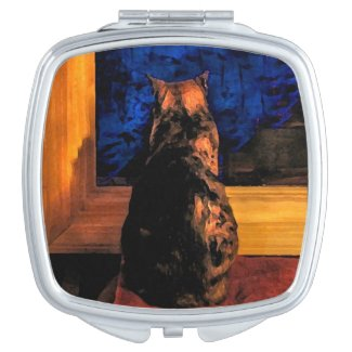 Cat in the Window Compact Mirror