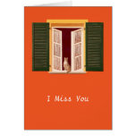 Cat in the Window Greeting Cards