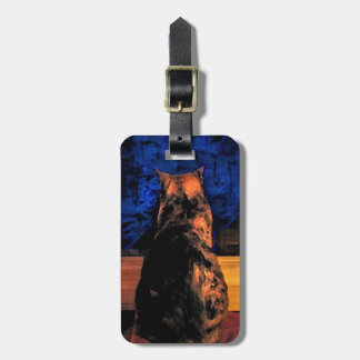 Cat in the Window Tag For Luggage