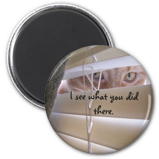 Cat in the Window Refrigerator Magnet