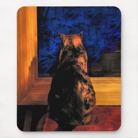 Cat in the Window Mouse Pad