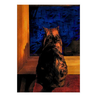 Cat in the Window Poster