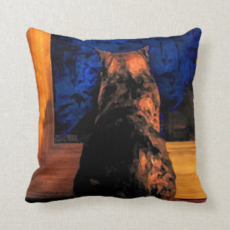 Cat in the Window Throw Pillows