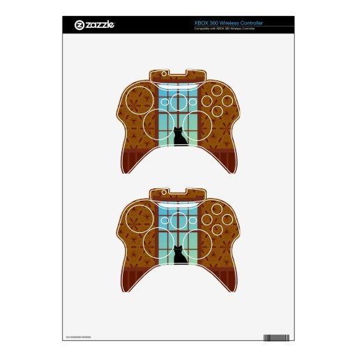 Cat in the window xbox 360 controller skins