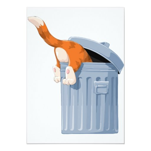 Cat in Trash Can - Bottoms Up Card