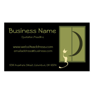 Cat in Window Business Cards